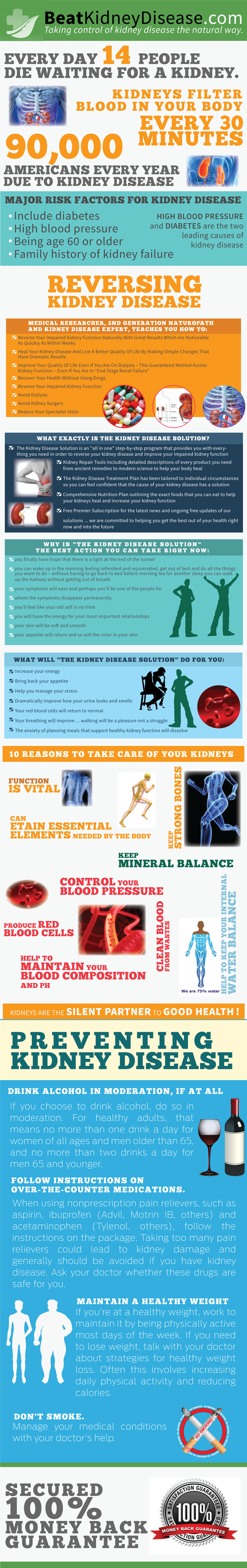 Taking Control of Kidney Disease the Natural Way Infographic