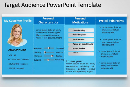 Target Audience Characteristics PowerPoint Template Infographic