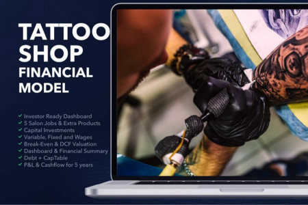 TATTOO SHOP BUSINESS PLAN FINANCIAL MODEL EXCEL TEMPLATE Infographic