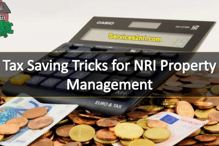 Tax Saving Tricks for NRI Property Management Infographic