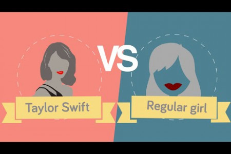 Taylor Swift vs Regular Girl Infographic