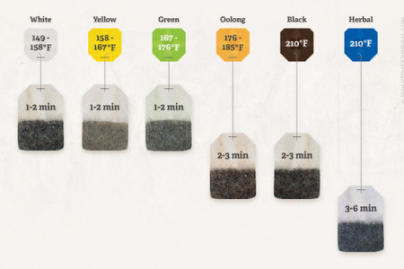 Tea Steeping Time Infographic