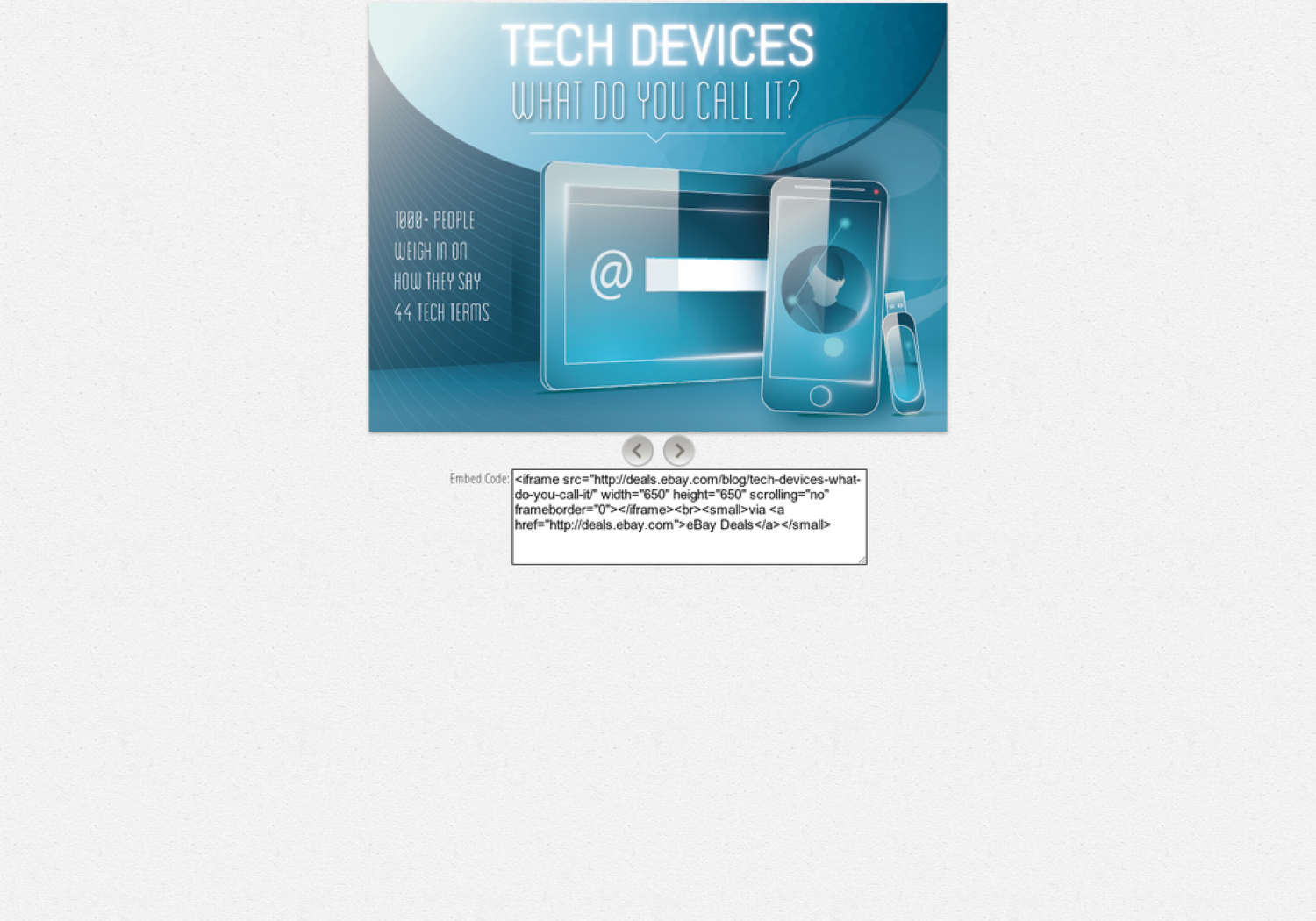 Tech Devices: What Do You Call It? Infographic