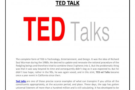 TED TALK Infographic