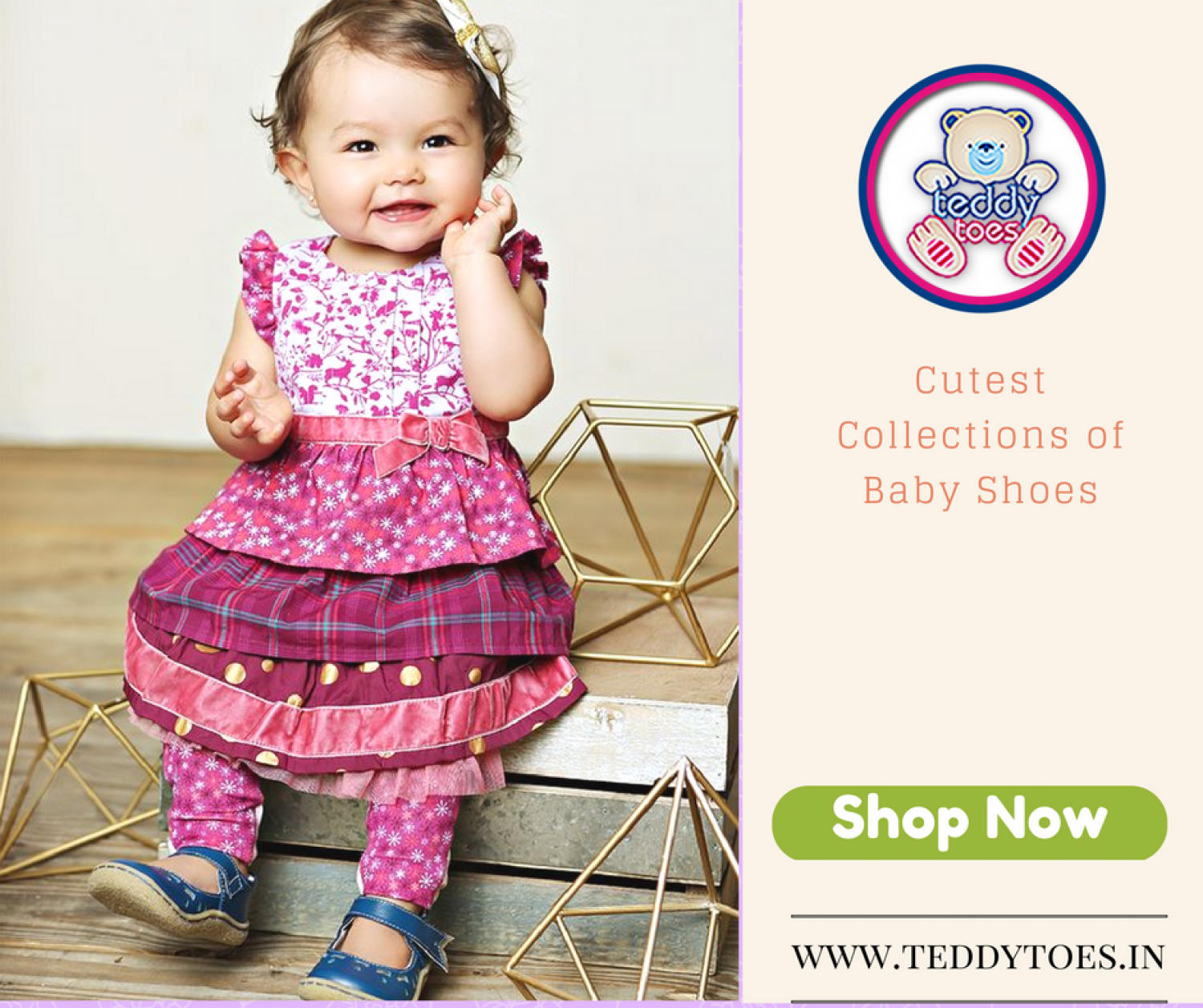 Teddy Toes Baby Shoes For Infants, Toddlers, Boys & girls 0-5 years. Infographic