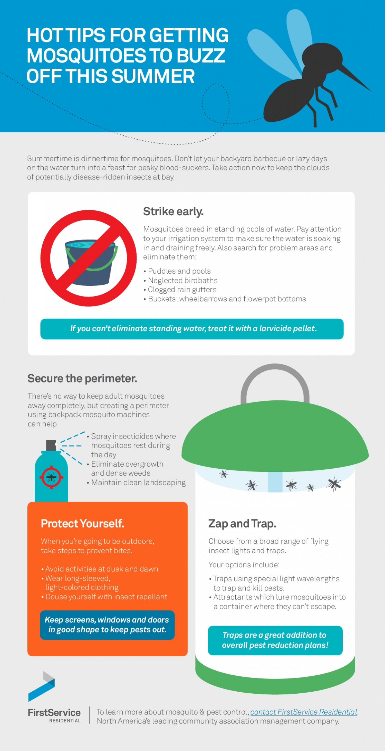 Tell Mosquitoes To Buzz Off Infographic
