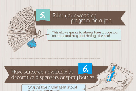 Ten Tips for the Perfect Outdoor Wedding Infographic