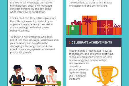 Ten Ways to Engage and Motivate Employees Infographic