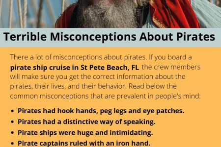 Terrible Misconceptions About Pirates Infographic