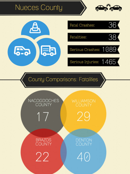 Texas Crash & Injury Reports 2012 Infographic