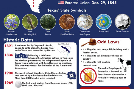 Texas the Lone Star State Infographic