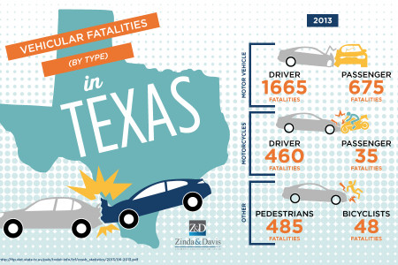 Texas: Vehicular Fatalities by Type Infographic