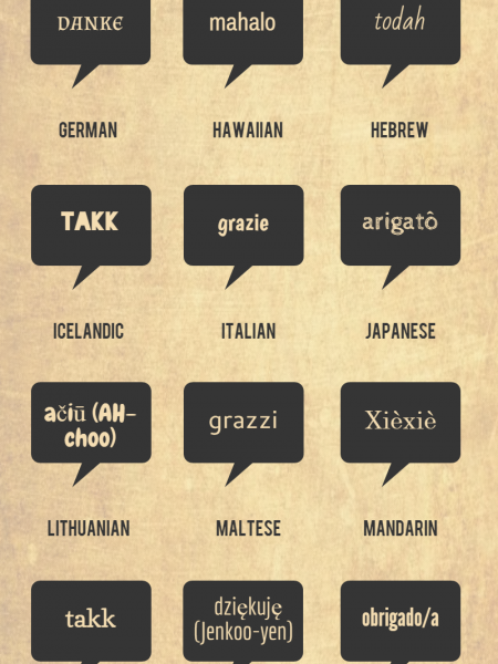 Thank You in 30 Different Languages Infographic