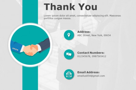 Thank You Slides Template Infographic