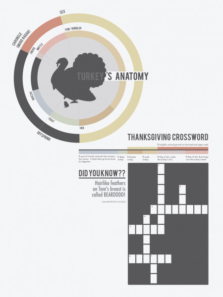Thanksgiving Crossword Infographic