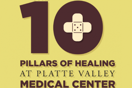 The 10 Pillars of Healing at Platte Valley Medical Center  Infographic