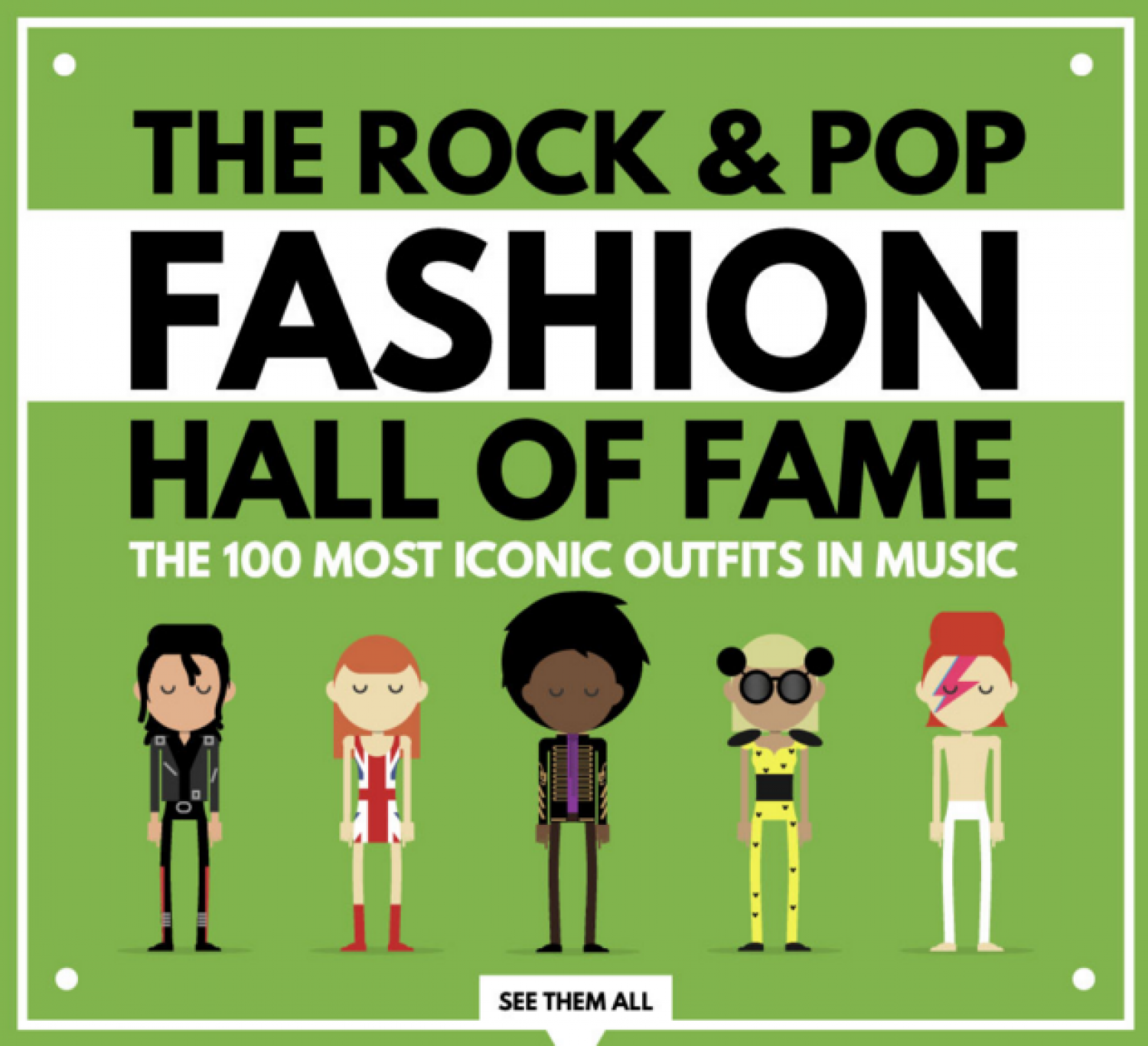 The 100 Most Iconic Outfits in Music Infographic