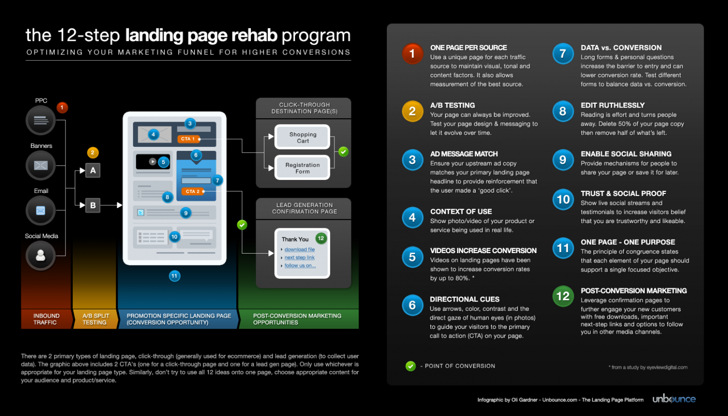 The 12-Step Landing Page Rehab Program Infographic