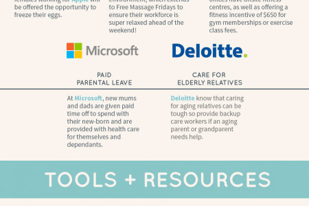 The 40 Coolest Tech Company Benefits Infographic