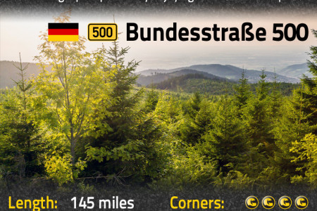 The 6 Best Biker Roads in the World Infographic