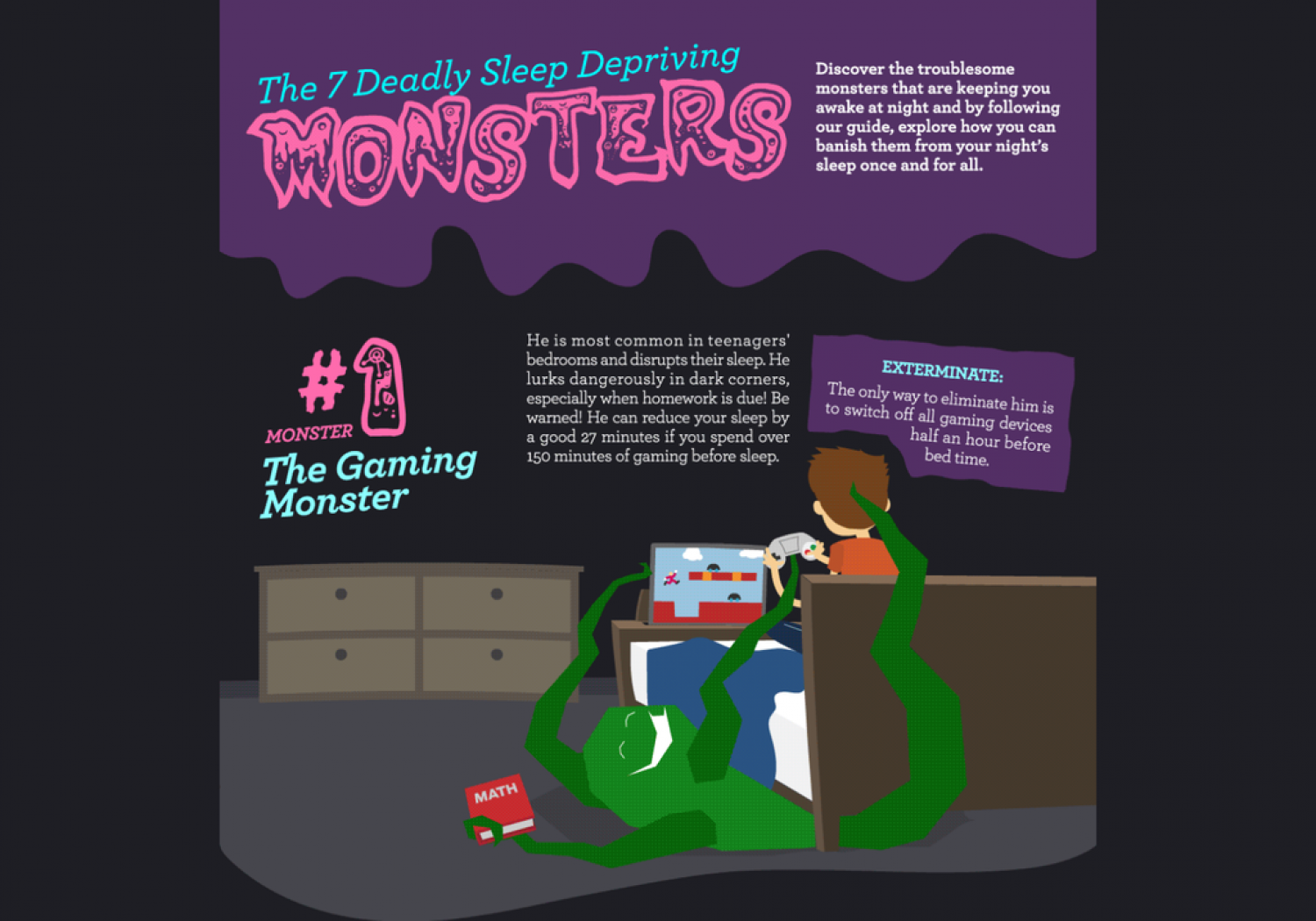 The 7 Deadly Sleep Depriving Monsters Infographic