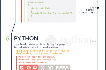 The 9 Most Useful Programming Languages Infographic