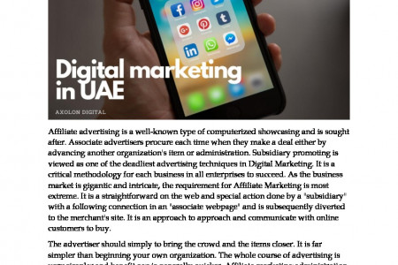 The Advantages of Affiliate Marketing in the UAE Infographic