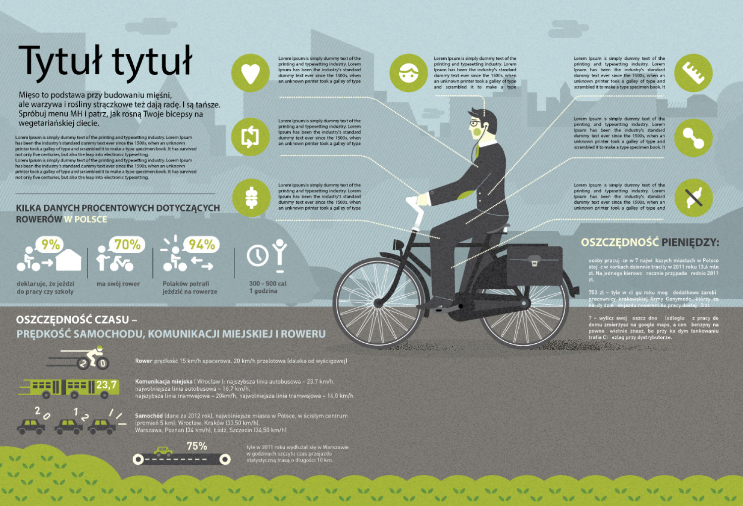 The advantages of biking Infographic