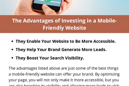 The Advantages of Investing in a Mobile-Friendly Website Infographic