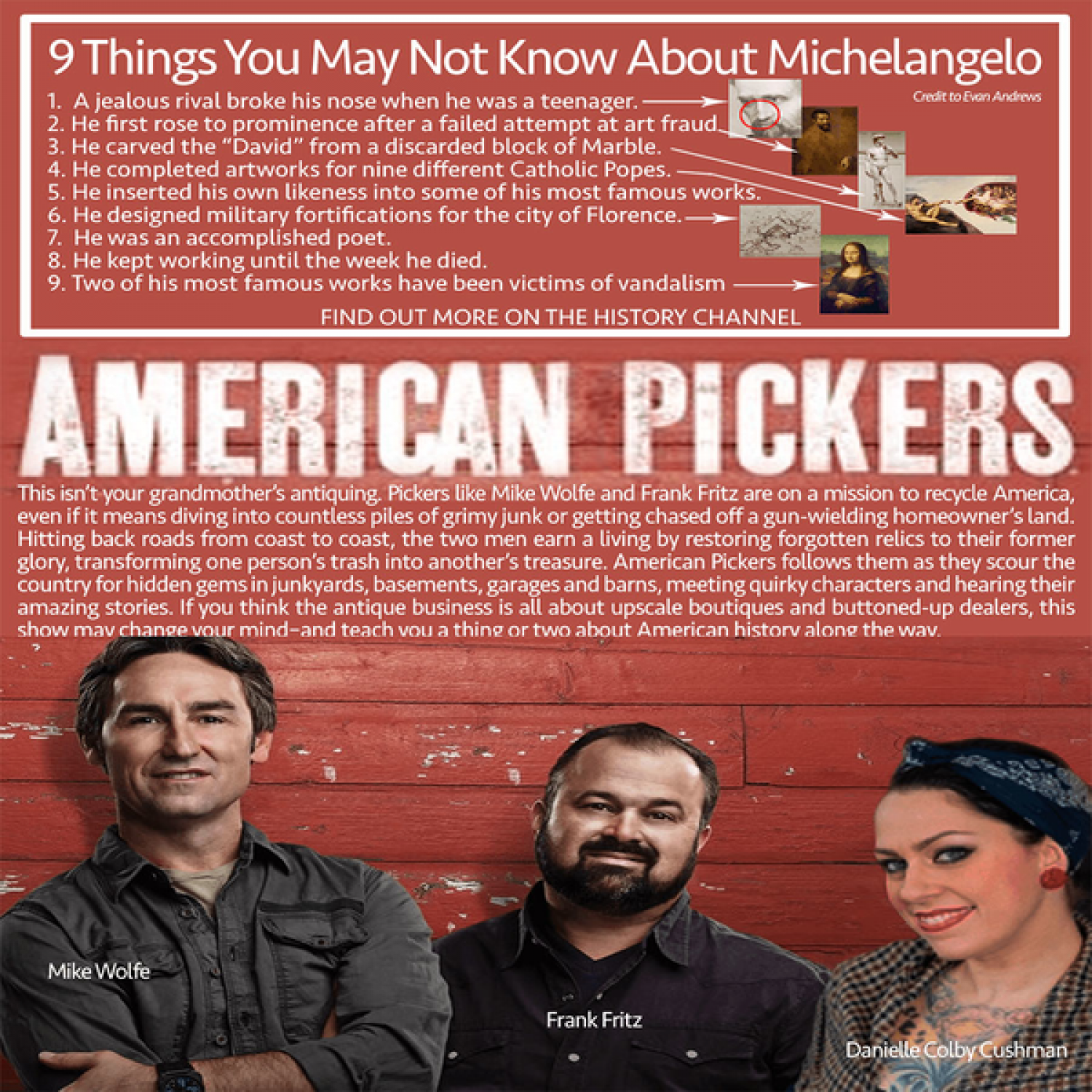 The American Pickers - Witness how these 2 American turn garbage into money Infographic