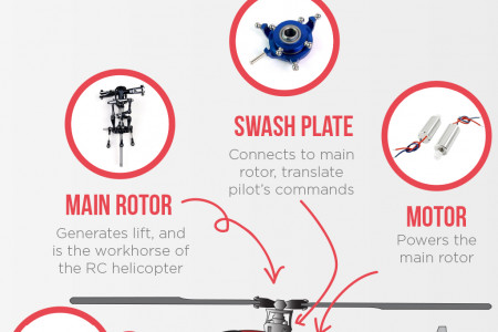The Anatomy of an RC Helicopter Infographic