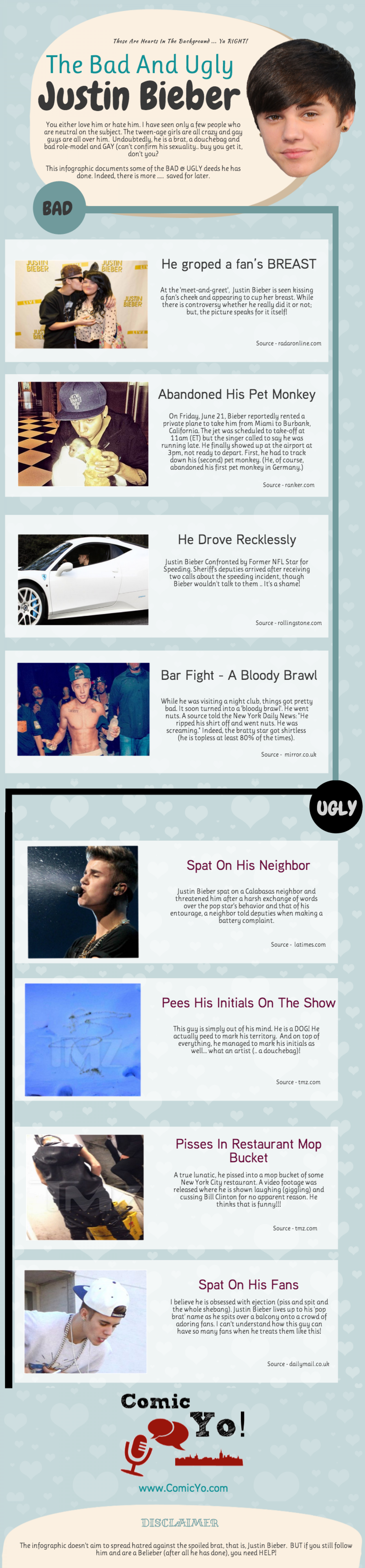 The Bad And Ugly – Justin Bieber Infographic