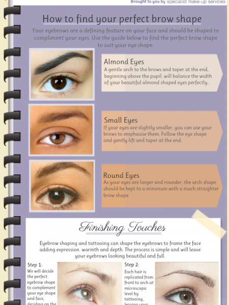 The Beautiful Eyebrows Guide Infographic
