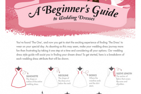 The Beginner's Guide To Wedding Dresses  Infographic