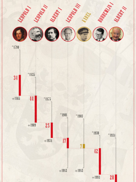 The Belgian kings Infographic
