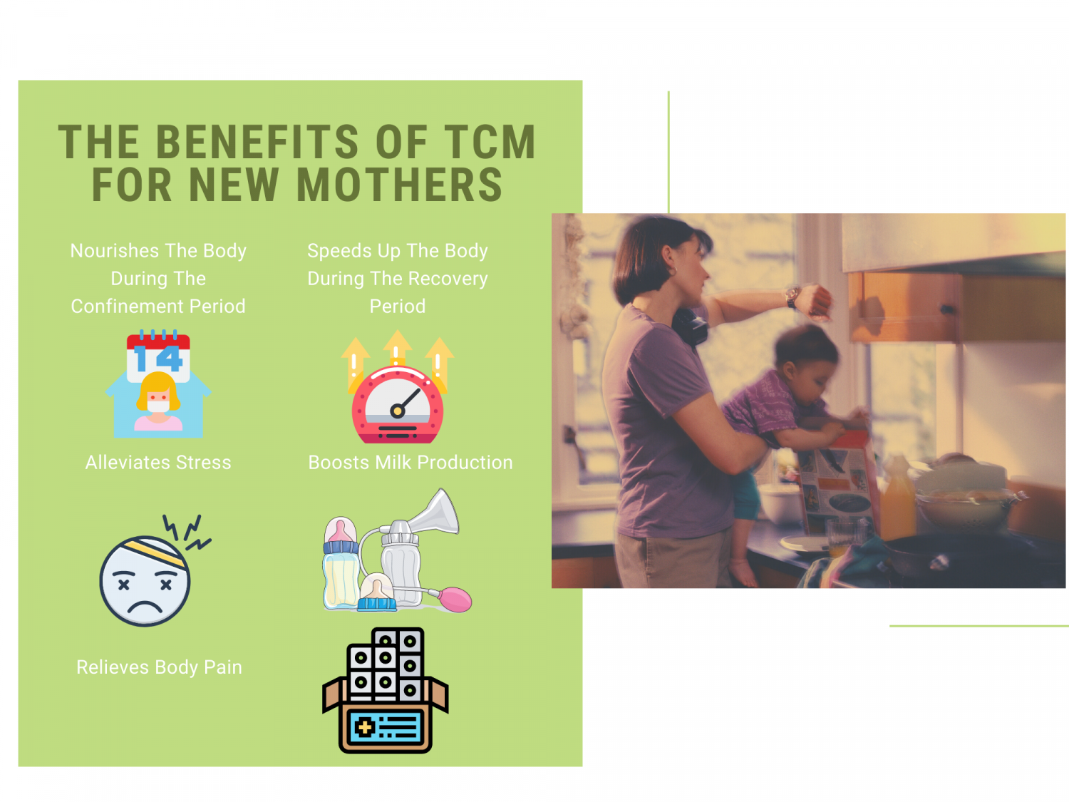 The Benefits of TCM For New Mothers Infographic