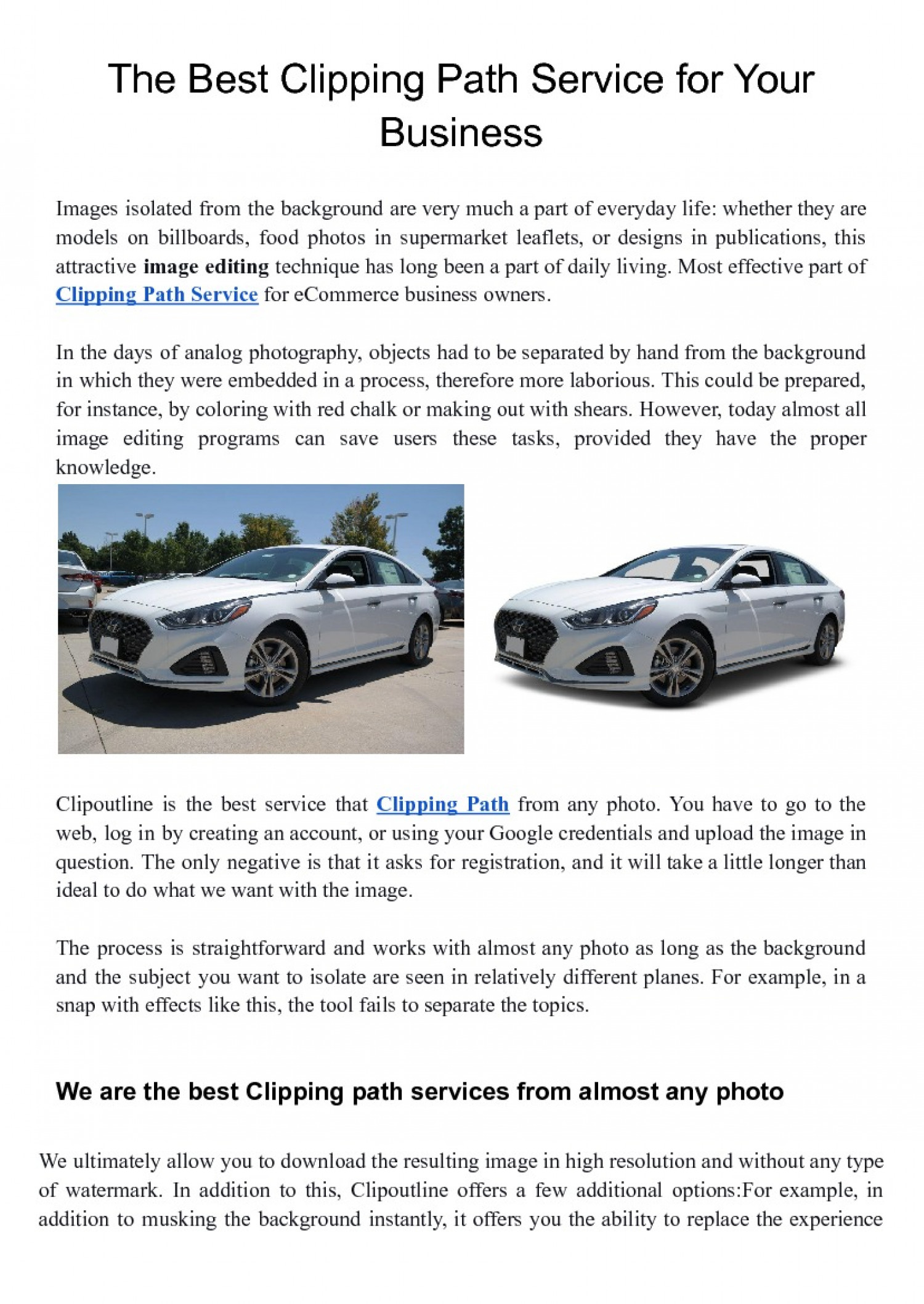 The Best Clipping Path Service for Your Business Infographic