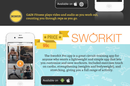 The best fitness apps you may never have heard of! Infographic