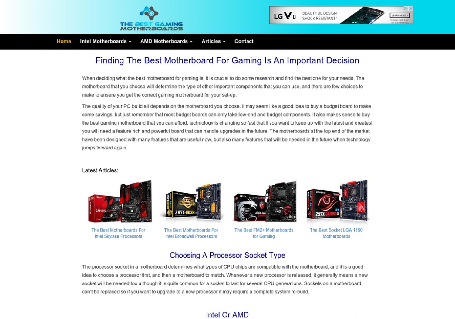 The Best Gaming Motherboards Infographic