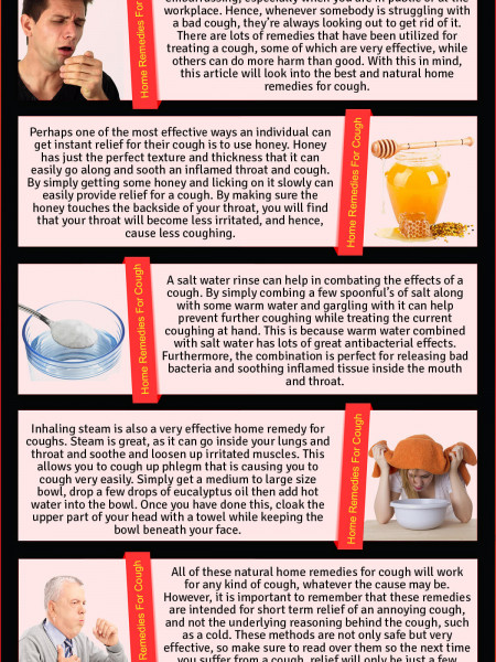 The best home remedies for cough Infographic