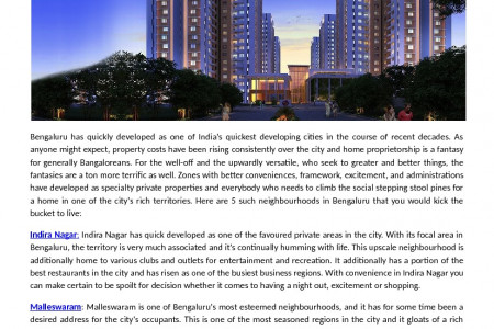 The Best Neighbourhoods To Live In Bangalore Infographic