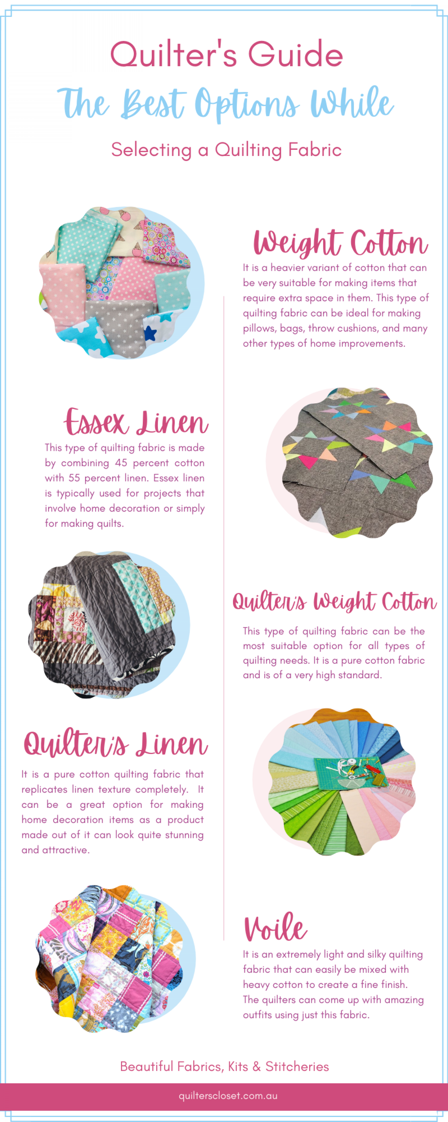 The Best Options While Selecting a Quilting Fabric Infographic