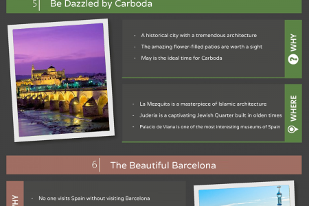 The Best Top Ten Experiences in Spain Infographic