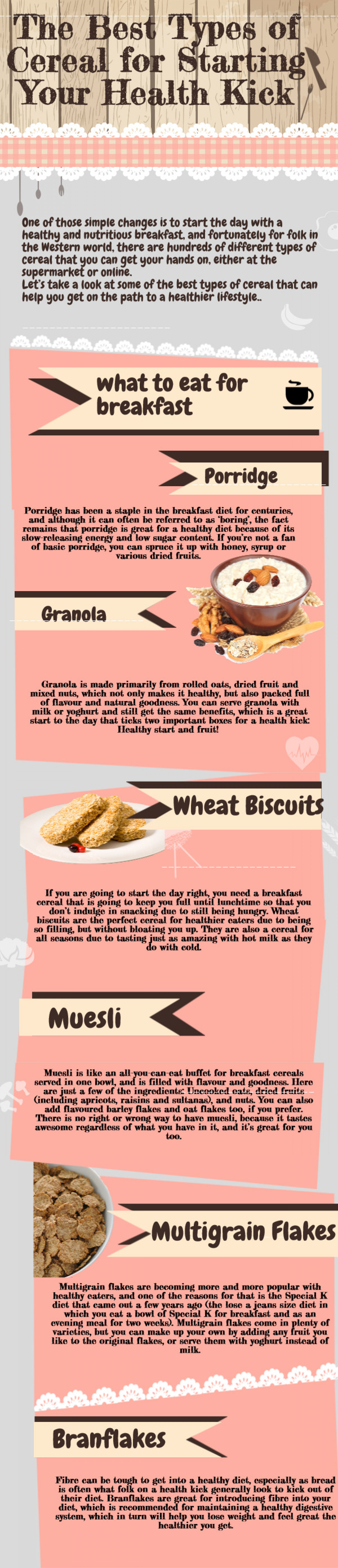 The Best Types of Cereal for Starting Your Health Kick Infographic