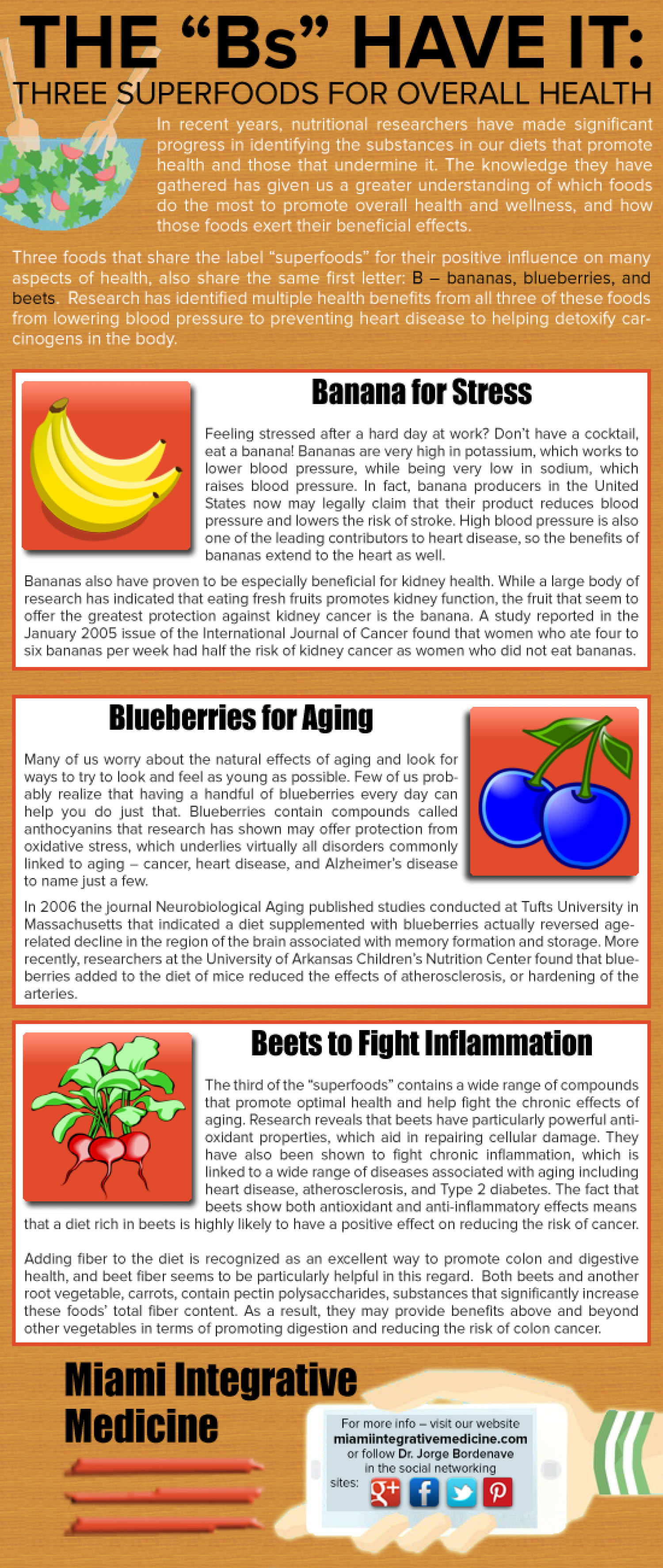 The B's Have It: Three Superfoods for Overall Health Infographic