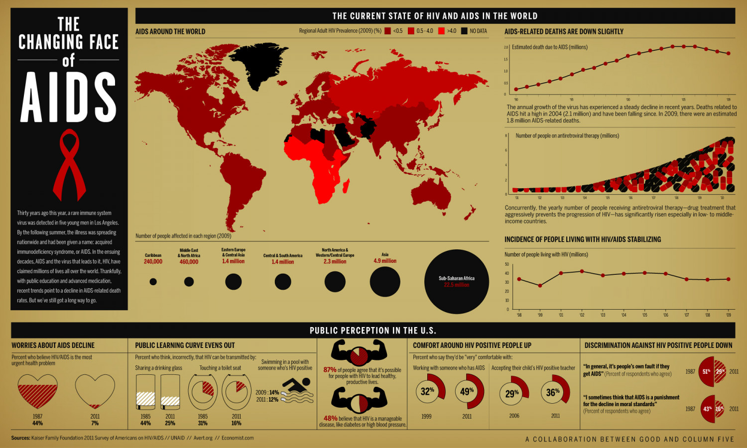 The Changing Face of AIDS Infographic