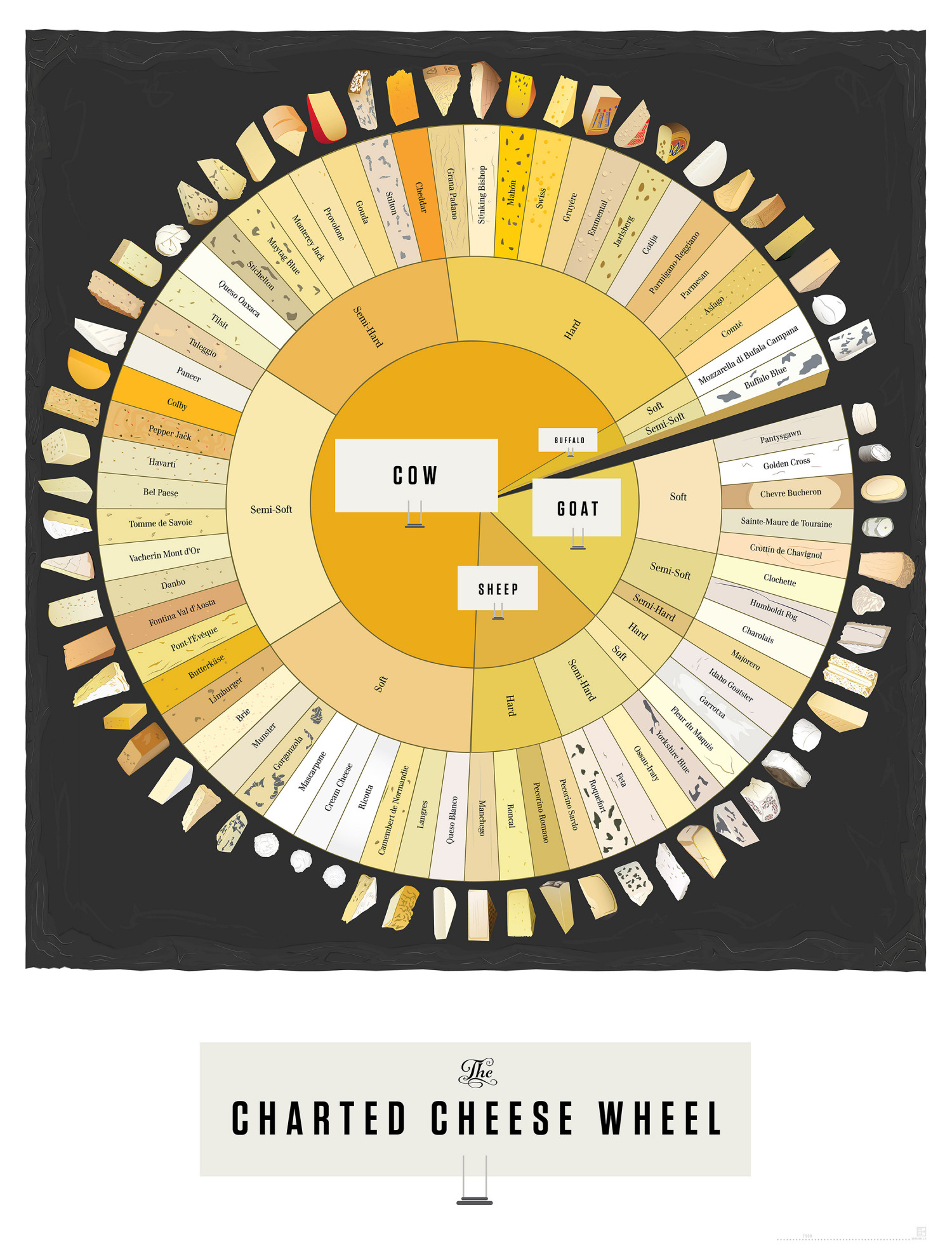 The Charted Cheese Wheel Infographic