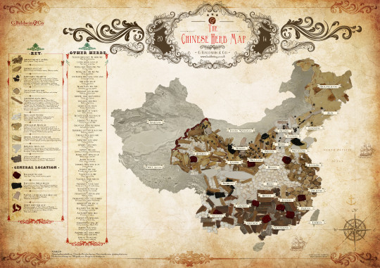 The Chinese Herb Map