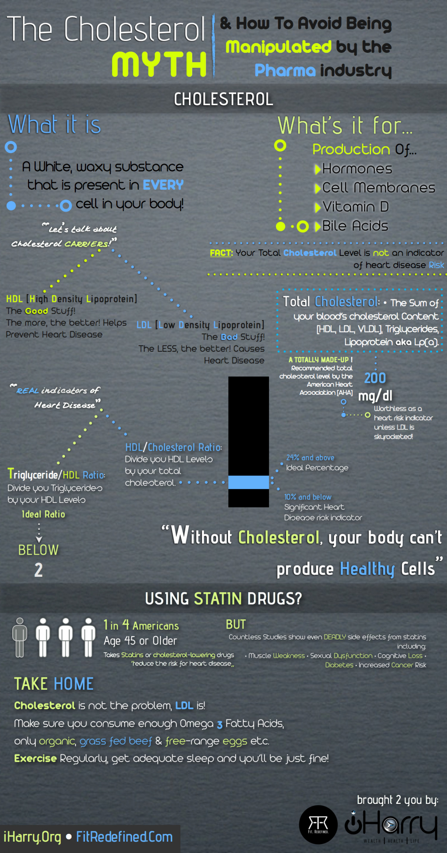 The Cholesterol MYTH! Infographic