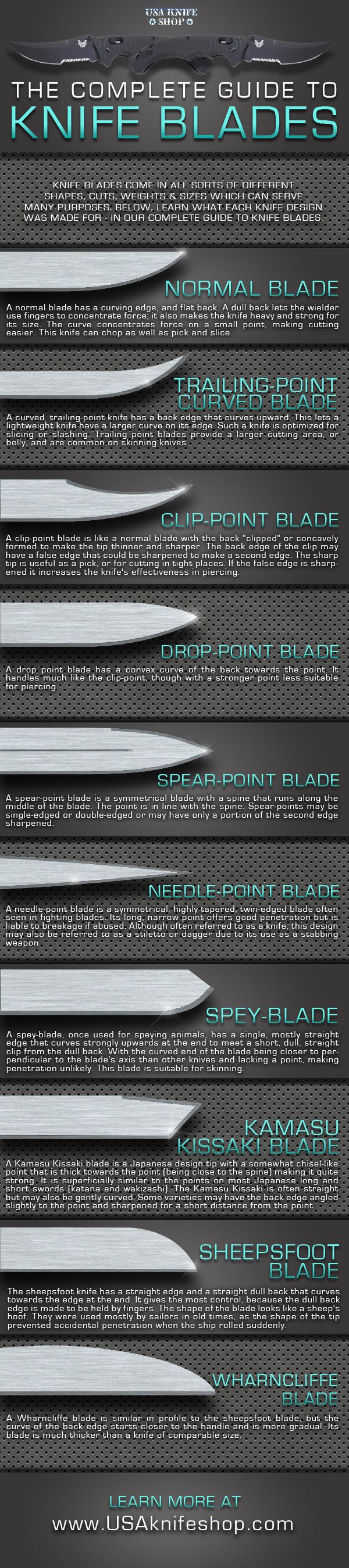 Knife Blade Designs Knife Blades Visual ly